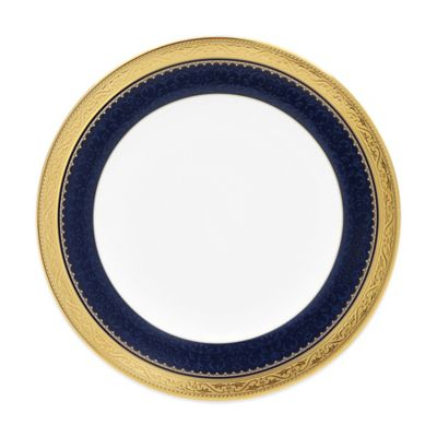 Blue Gold Butter Plate