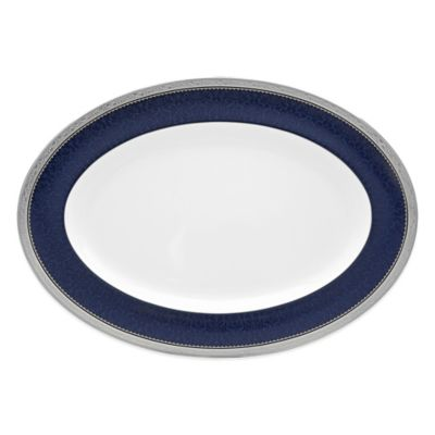 Cobalt Platinum Oval Platter