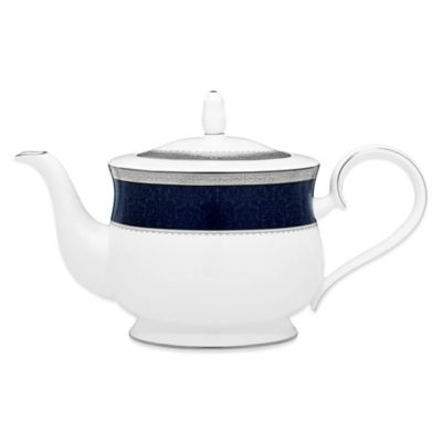 Noritake® Odessa Cobalt Teapot in Platinum