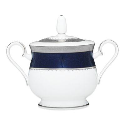 Noritake® Odessa Cobalt Platinum Bone China Covered Sugar Bowl