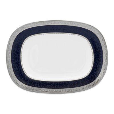 Noritake® Odessa Cobalt Butter/Relish Tray in Platinum