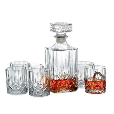 Denmark 7-Piece Whiskey Decanter Set