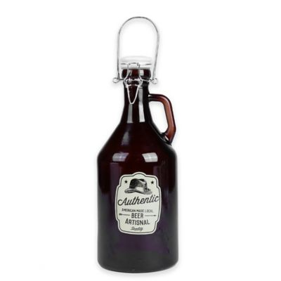 Beer Growler with Bail and Trigger Top
