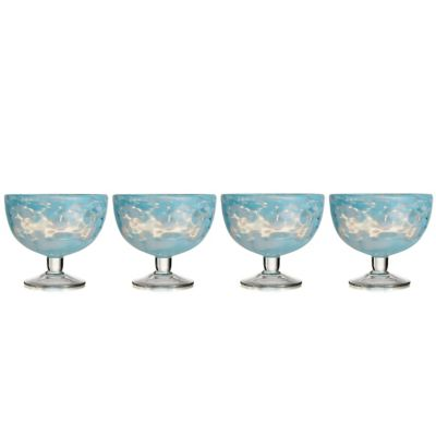 Fitz and Floyd® Splash Ice Cream Bowl in Aqua (Set of 4)