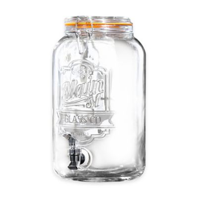 Main Street Crystal Beverage Dispenser with Glass Lid in Clear