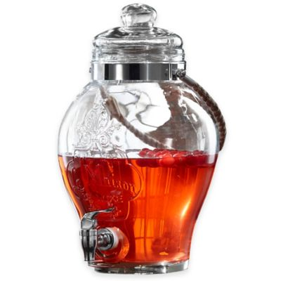 Style Setter La Maison Glass Beverage Dispenser with Rope in Clear