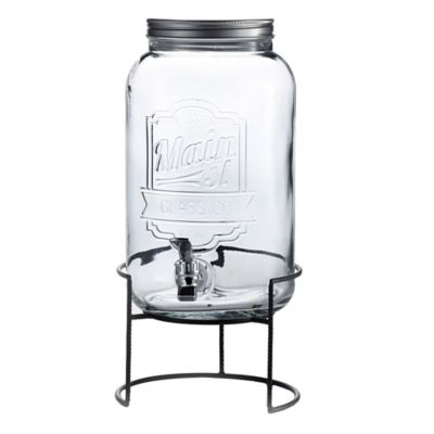 Main Street Crystal Beverage Dispenser With Stand in Clear