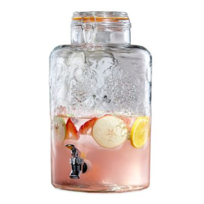 Vineyard Glass Beverage Dispenser in Clear