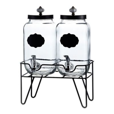 Style Setter Manchester Double Beverage Dispenser Set with Stand