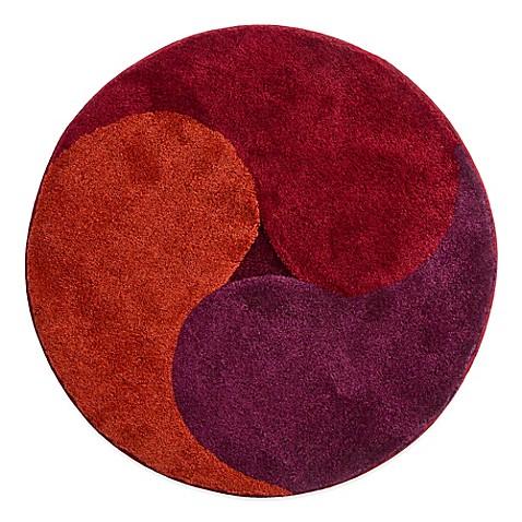 grund aum 3 foot 4 inch aum round bath rug in dark