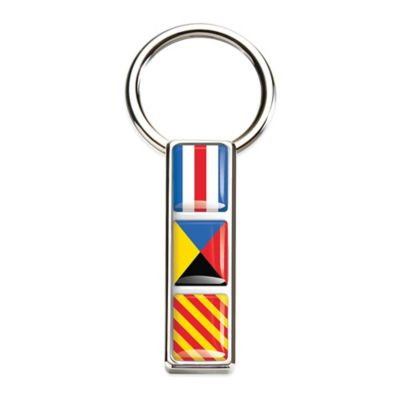 M-Clip® Stainless Steel Mariner Nautical Flag Key Ring