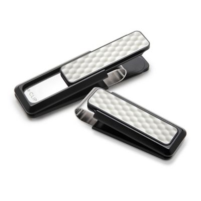 M-Clip® Black Anodized and White Golf Ball Money Clip