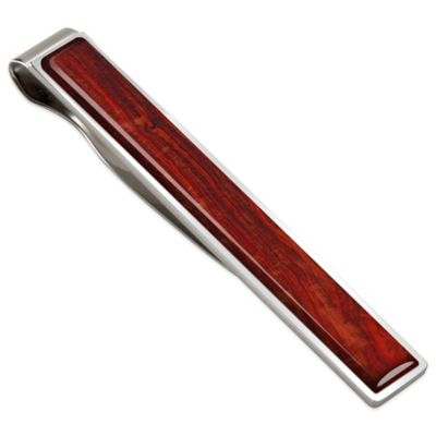 M-Clip Cocobolo Stainless Steel Wood Tie Bar