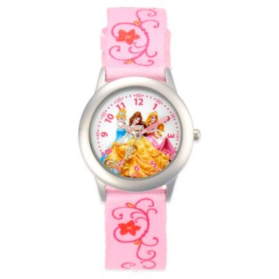 Disney® Princesses Children's 32mm Stainless Steel Watch with Pink Strap