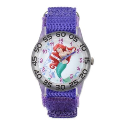 Disney® Ariel Children's 32mm Watch with Purple Strap