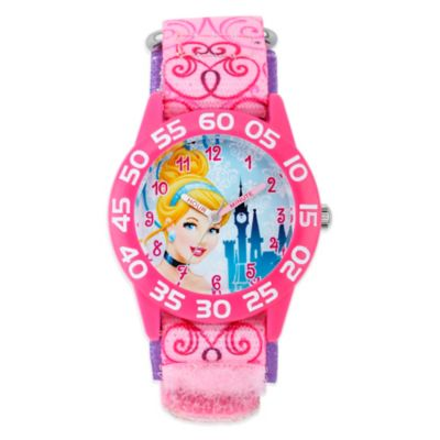 Disney® Cinderalla Children's 32mm Watch with Pink Swirl Strap