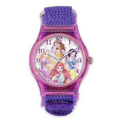 Disney® Princess Children's 33mm Watch with Purple Nylon Strap