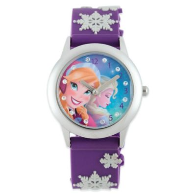 Stainless Steel with Purple Strap Childrens Watches