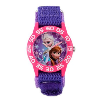 "Disney® ""Frozen"" Anna and Elsa Children's 32mm Watch with Purple Strap"