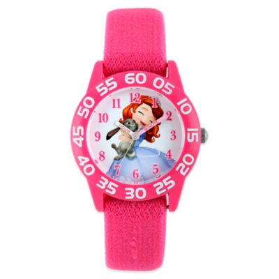 Disney® Sofia and Clover Children's 32mm Watch with Pink Strap