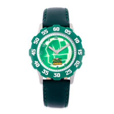 Marvel Hulk Fist Children's 32mm Stainless Steel Watch with Green Strap