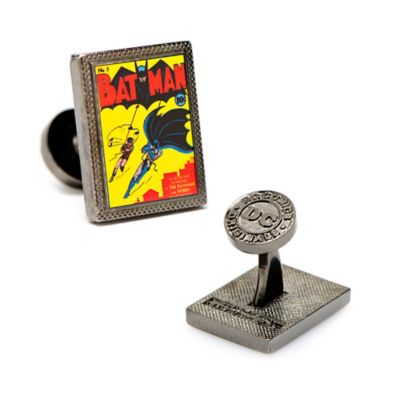 DC Comics™ Gunmetal-Plated Batman First Issue Comic Book Cover Cufflinks