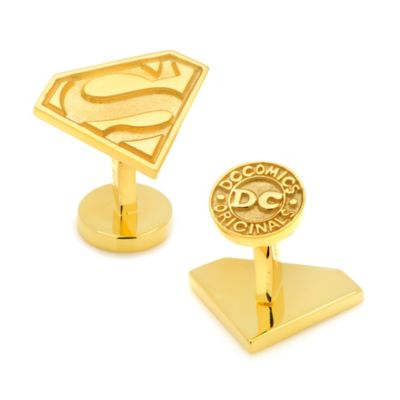 DC Comics™ Gold-Plated Sterling Silver Superman Logo Cufflinks