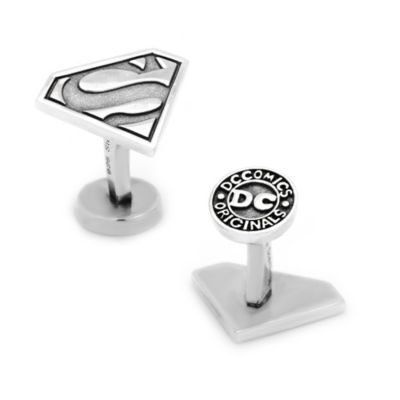 DC Comics™ Sterling Silver Superman Shield Cufflinks