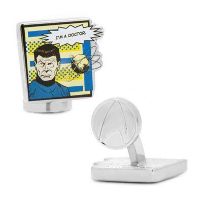 "Star Trek™ Silver-Plated Bones ""I'm a Doctor"" Comic Cufflinks"
