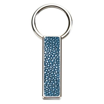 M-Clip® Stainless Steel Stingray Inlay Key Ring in Black