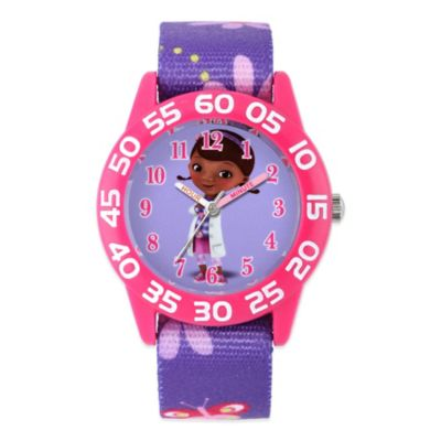 Disney® Doc McStuffins Children's 32mm Pink Watch with Purple Strap
