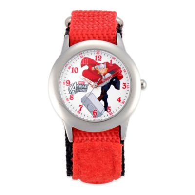 Marvel Thor Children's 32mm Watch in Stainless Steel with Red Strap