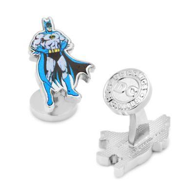 DC Comics™ Silver-Plated Blue Classic Batman Cufflinks