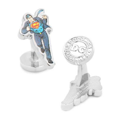 DC Comics™ Silver-Plated Clark Kent Cufflinks