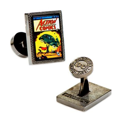 DC Comics™ Silver-Plated Superman Action Comics Cufflinks