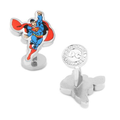 DC Comics™ Silver-Plated Soaring Superman Cufflinks