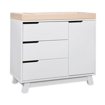 Babyletto Hudson 3-Drawer Changer Dresser in White Washed/Natural