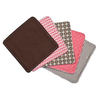 Trend Lab® 5-Piece Cocoa Coral Washcloth Set