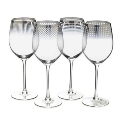 Mikasa® Cheers Metallic Ombre Red Wine Glasses (Set of 4)