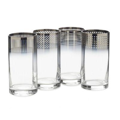 Mikasa® Cheers Metallic Ombre Highball Glasses (Set of 4)