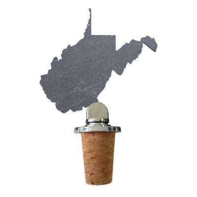 Top Shelf Living Slate West Virginia Wine Stopper