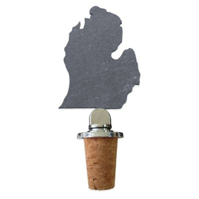 Top Shelf Living Slate Michigan Wine Stopper