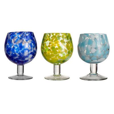 Splash Goblets in Aqua (Set of 4)