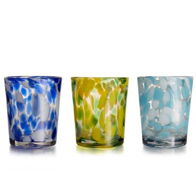 Splash Double Old Fashioned Glass in Blue (Set of 4)