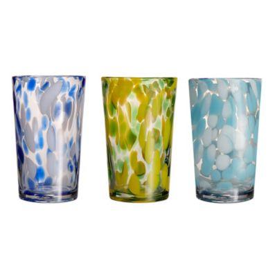 Splash Highball Glass in Green (Set of 4)