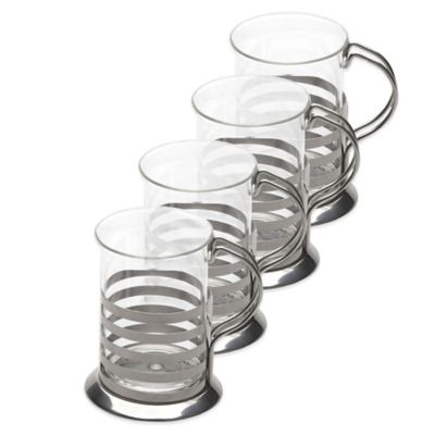 BergHOFF® 4-Piece Studio Striped Cup Set