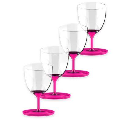ASOBU Stackable Vino Wine Glasses in Pink (Set of 4)