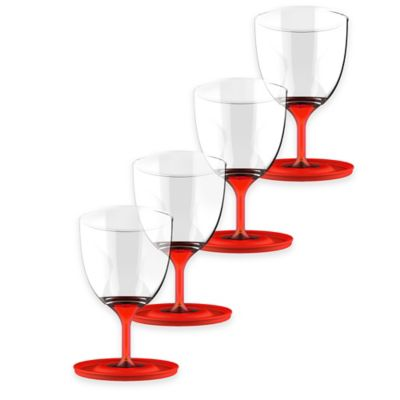 ASOBU Stackable Vino Wine Glasses in Red (Set of 4)