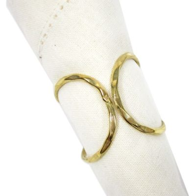 Brass Squiggle Napkin Ring in Gold