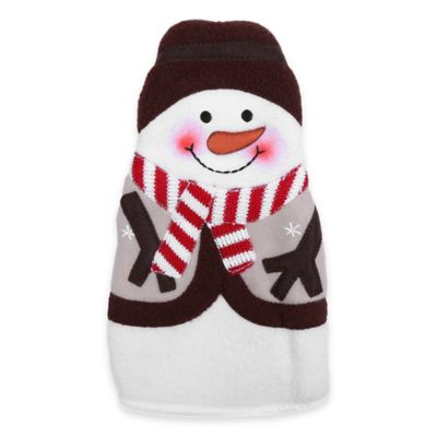 Snowman Oven Mitt in White